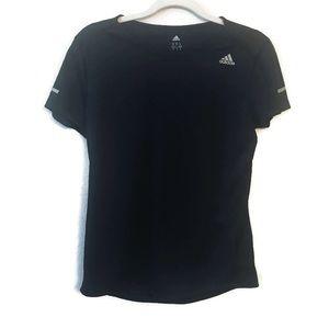 Adidas Black Shirt Sleeve workout top size medium